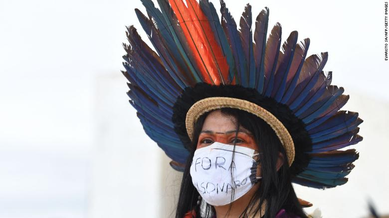 Brazil's indigenous tribes protest bill that would allow commercial mining on their land