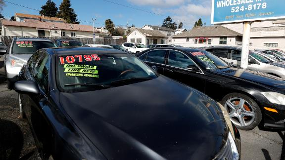 Used cars sit on the sales lot at Frank Bent's Wholesale Motors on March 15, 2021 in El Cerrito, California. Used car prices have surged 17 percent during the pandemic and economists are monitoring the market as a possible indicator of future increased inflation in the economy overall. (Photo by Justin Sullivan/Getty Images)