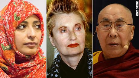 Tawakkol Karman, Elfriede Jelinek and Dalai Lama are among the signatories fo the letter.