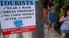 Le problème avec les touristes sans masque