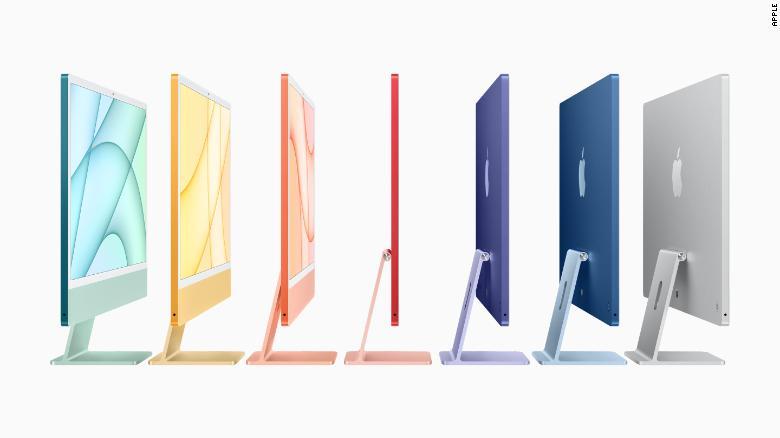 Jajaran iMac baru Apple memiliki ... tampilan baru ... yang berbeda.