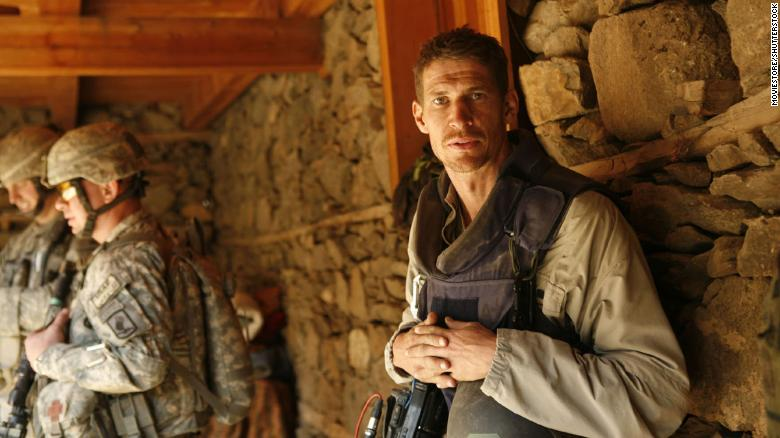"""An image of Tim Hetherington from the HBO film, """"Which Way is the Frontline From Here."""""""