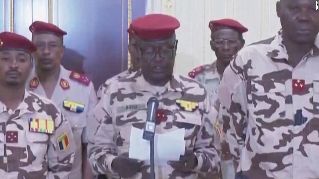 Military spokesman announces transitional president in Chad
