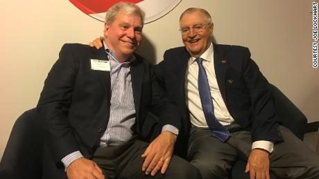 Joe Lockhart and Walter Mondale in 2019.
