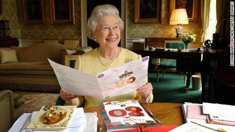 The Queen on her 80th birthday
