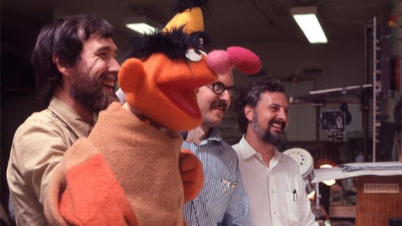 Jim Henson, Frank Oz and Jon Stone, as seen in 'Street Gang: How We Got to Sesame Street' (Robert Fuhring/Courtesy Sesame Workshop)
