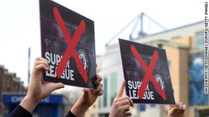 03 European Super League protest 0420