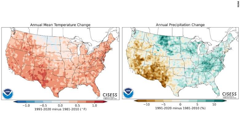 Climate change clearly visible as NOAA prepares to release new 'normals'