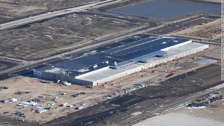 The Foxconn campus, under construction in January 2020.