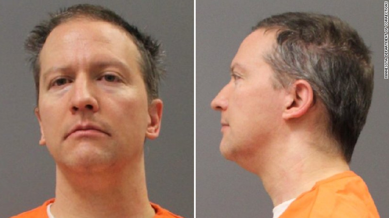 Derek Chauvin's booking photos, released Wednesday.