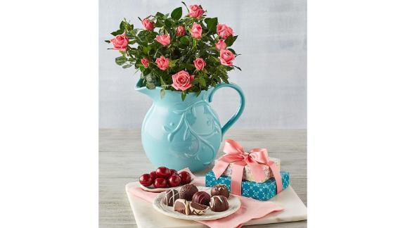Harry & David Pink Mini Rose Pitcher Gift