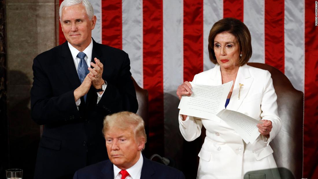 Pelosi felt 'liberated' after ripping up Trump's 2020 State of the Union speech, author says
