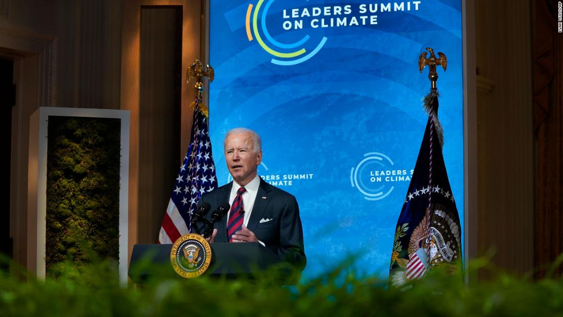 Biden aims to make the economic case for fighting climate change on second day of virtual summit
