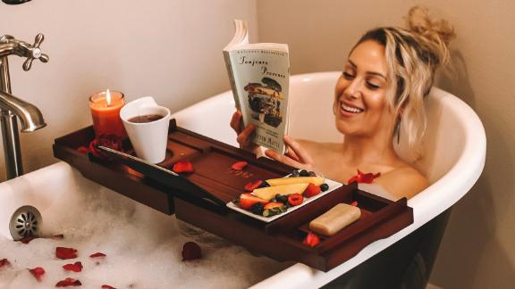 EstalaSkinCare Bamboo Wood Bath Tray