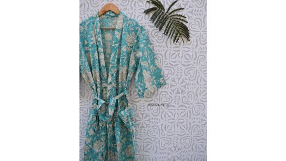 Wintageworld Women's Kimono Cotton Robe