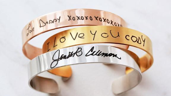 TomDesign Custom Handwriting Cuff Bracelet
