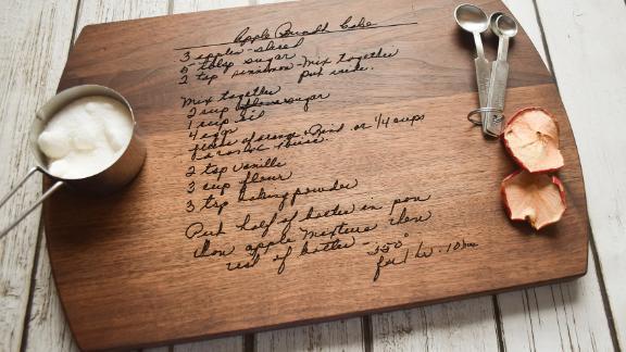 CircleCityDesignCo Handwritten Engraved Recipe Cutting Board