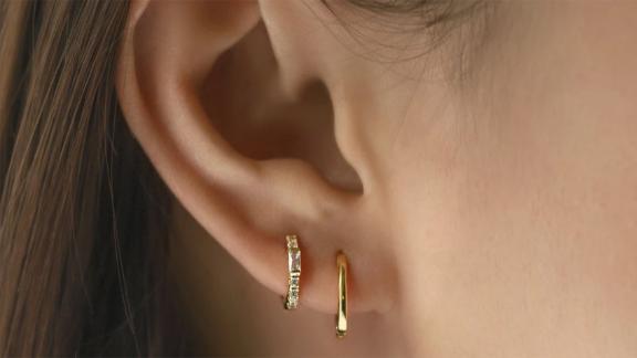 Baguette Huggie Earrings
