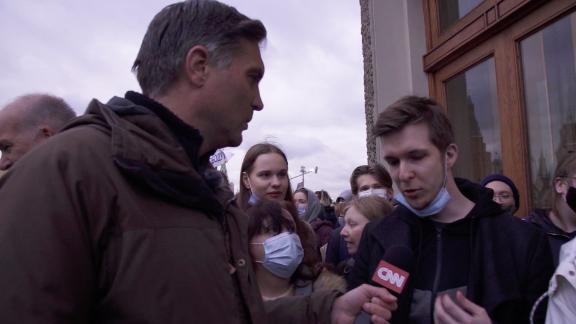 screengrab russian protester