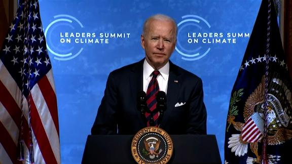 President Biden is hosting a two-day virtual summit of world leaders starting today, which coincides with Earth Day, to address the global climate crisis. He committed the United States to reducing its greenhouse gas emissions by 50%-52% below its 2005 emissions levels by 2030.
