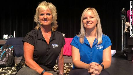 Ashley Novakowski (right) is shown here with her mother Sandy Libert (left), founder of