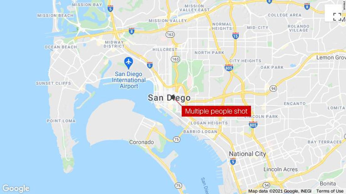 1 person is dead and multiple people shot in downtown San Diego with suspect in custody, police say