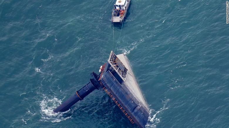 Sixth body recovered after ship with 19 on board capsized last week off the Louisiana coast