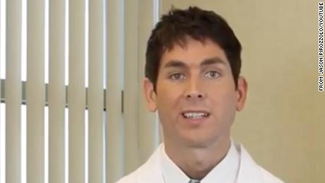 In this screengrab from video, Dr. Jason Pirozzolo from Orlando Hand Surgery Associates explains tennis elbow and provides exercises for rehabilitation.