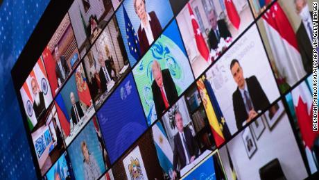 世界各国领导人参加了由美国总统拜登(Joe Biden)召集的虚拟气候峰会。