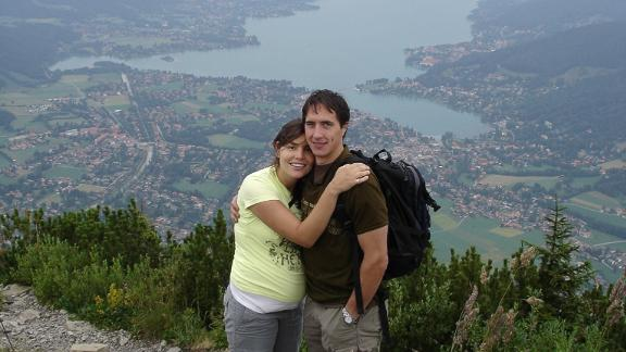 <strong>A hiking proposal: </strong>Gianna made the move to Europe permanent that fall. A few years later, Sebastian and Gianna got engaged in Tegensee, Bavaria when she was five months pregnant.