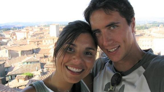 <strong>Leap of faith:</strong> Later that year, Gianna decided to quit her job and go traveling around Europe, basing herself in Germany with Sebastian. Here they are vacationing in Italy.