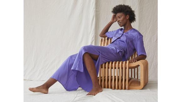 Lunya Washable Silk Button-Down Pant Set