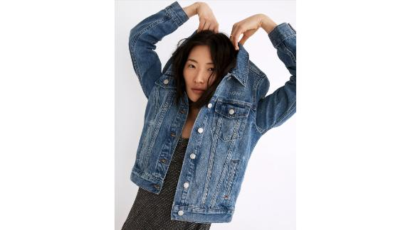 Mama Embroidered Jean Jacket