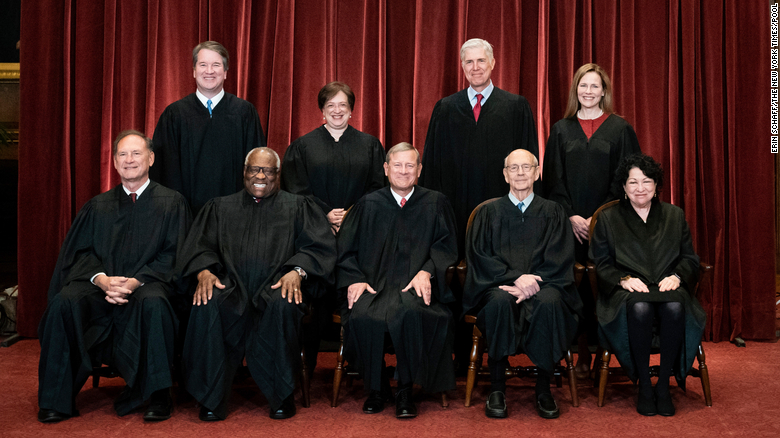 Justice Amy Coney Barrett finally meets the other 8 Supreme Court justices for a class photo