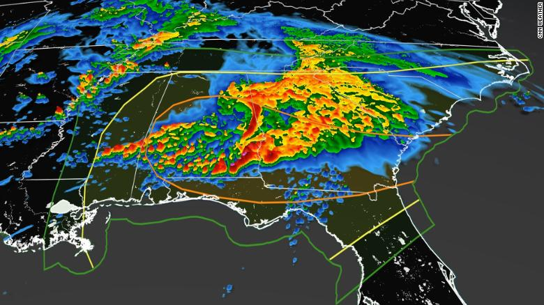 Severe storms return to the Southeast on Saturday