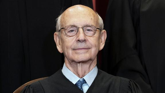 Associate Justice Stephen Breyer sits during a group photo at the Supreme Court in Washington, Friday, April 23, 2021. (Erin Schaff/The New York Times via AP, Pool)