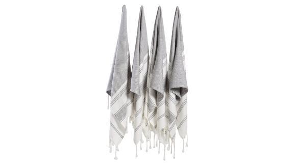 Bosphorus Turkish Cotton Towel, Set of 4
