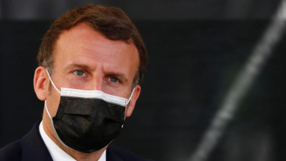 Macron during a visit to Montpellier, southern France, in April.