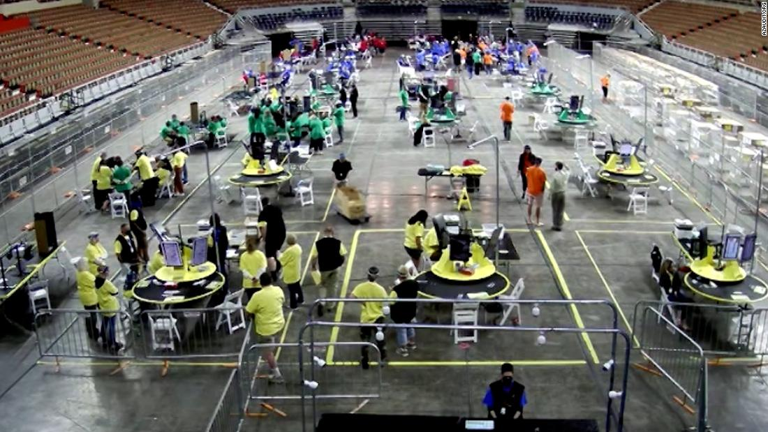 Arizona auditors near finish of hand recount as out-of-state GOP pilgrimages continue