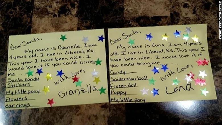 The twins' Christmas wish lists.