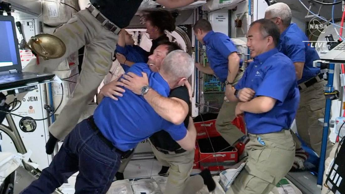 Astronauts welcome new crew aboard the International Space Station - CNN Video