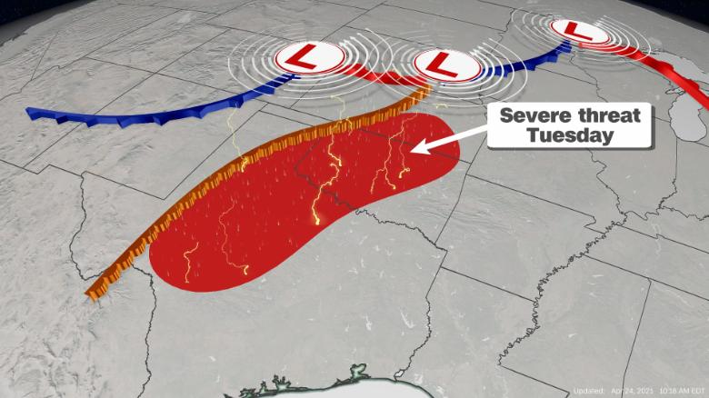 Millions of Americans brace for severe storms, flash floods and possible tornadoes this week