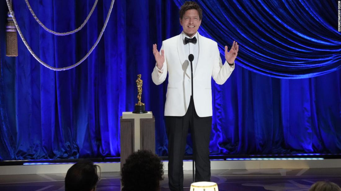 "Director Thomas Vinterberg accepts the Oscar for best international feature film, which went to his film ""Another Round."" He said this was ""beyond anything I could ever imagine -- except this is something I've always imagined, since I was 5."""