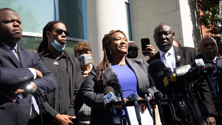 Attorney Chantel Cherry-Lassiter tells reporters what she saw when she watched the clip of body camera footage.