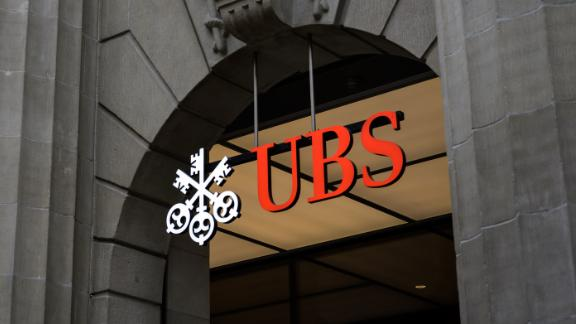 This photograph taken on March 3, 2021 in Zurich shows a sign of Swiss banking giant UBS on their headquarters. (Photo by Fabrice COFFRINI / AFP) (Photo by FABRICE COFFRINI/AFP via Getty Images)