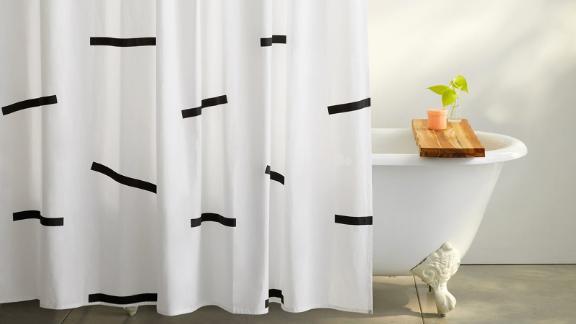 Cotton Shower Curtain Set