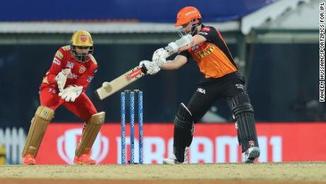 Williamson plays a shot during match 14 of the Indian Premier League.