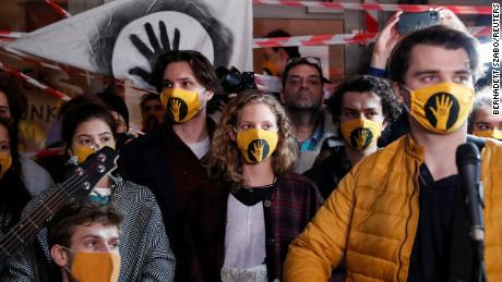 Students at Hungary's University of Theatre and Film Arts blockaded their school last October in a fight over the imposition of a government-appointed board that protesters said undermined the school's autonomy.