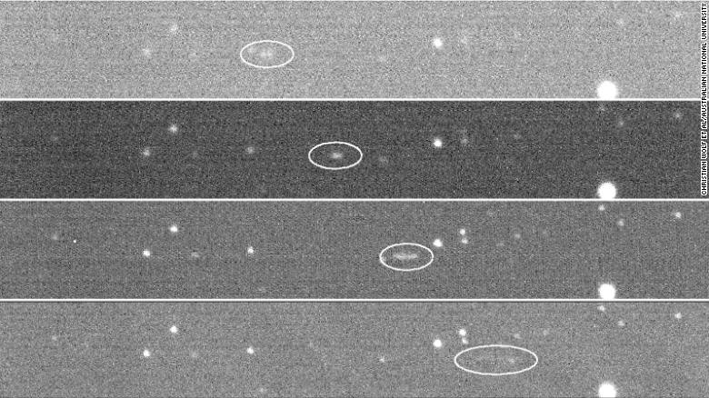 The SkyMapper project was able to capture the asteroid in action.