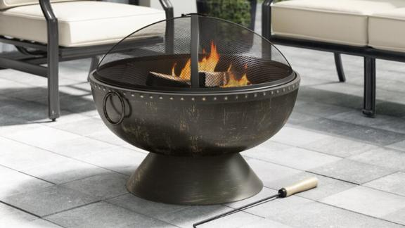 Grayleigh Tuscola Firebowl Steel Wood Burning Fire Pit